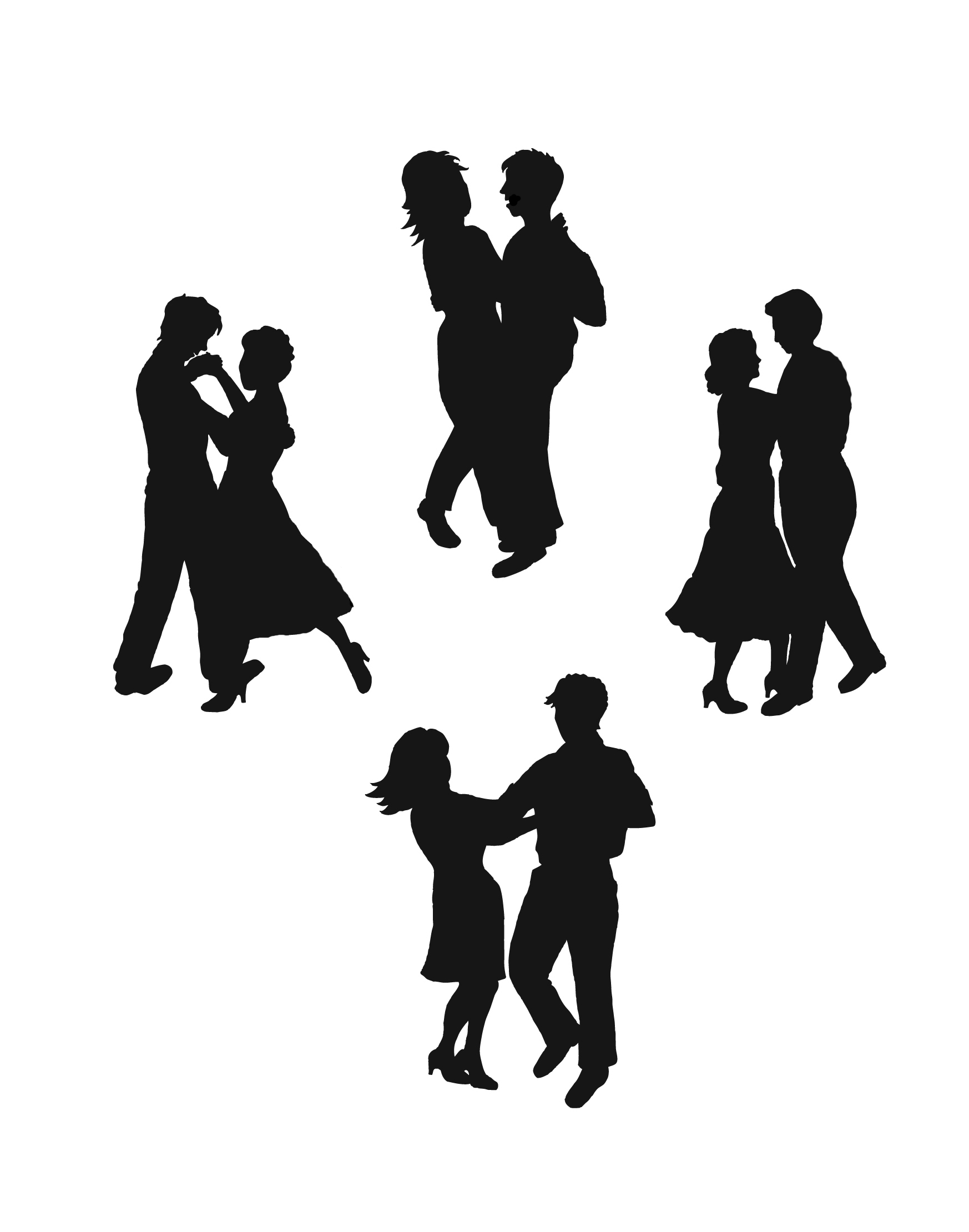 hight resolution of dancing clip art