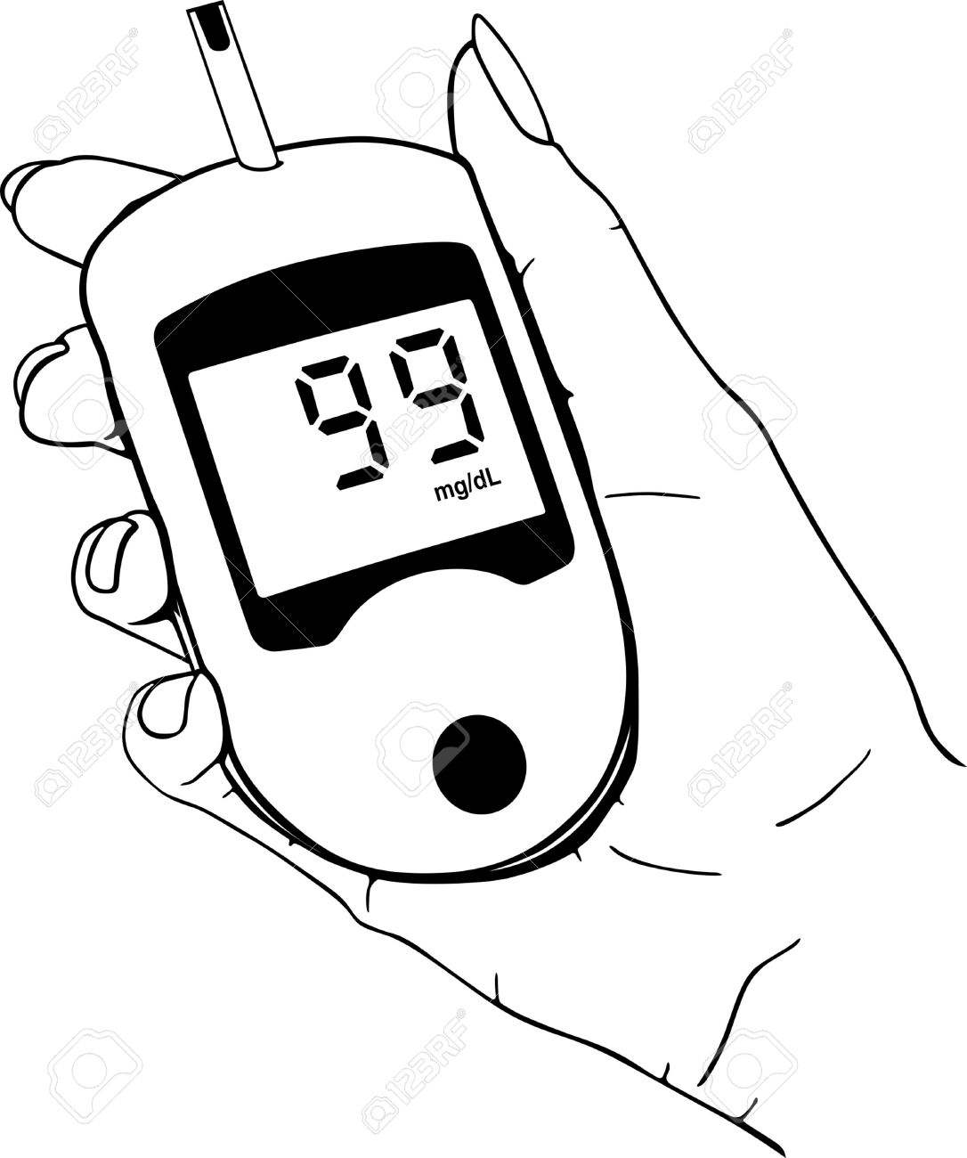 Blood Sugar Meter Cartoon
