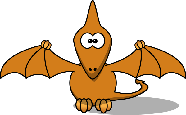 Pterodactyl Dinosaur Cartoon Clip Art