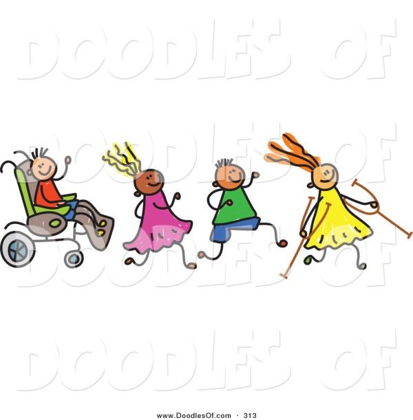 Disabled Children Clip Art