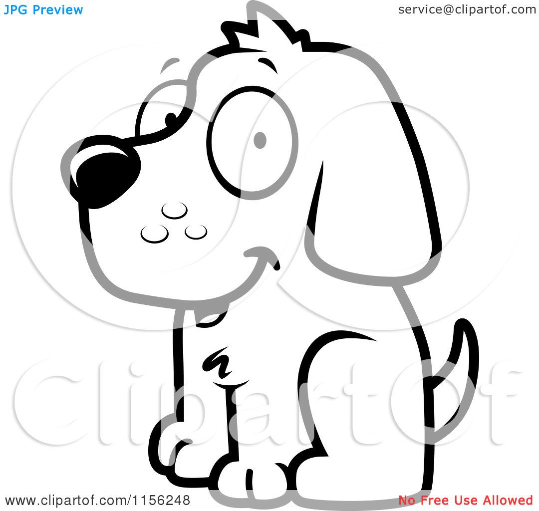 Dog Face Clip Art Black And White Clipart Panda