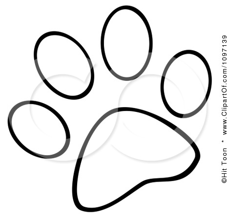 Printable Dog Paw Prints To Color