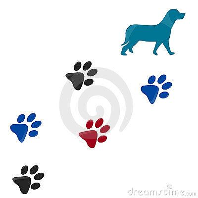dog paw print clip
