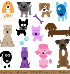 dogs clipart [ 1500 x 1500 Pixel ]