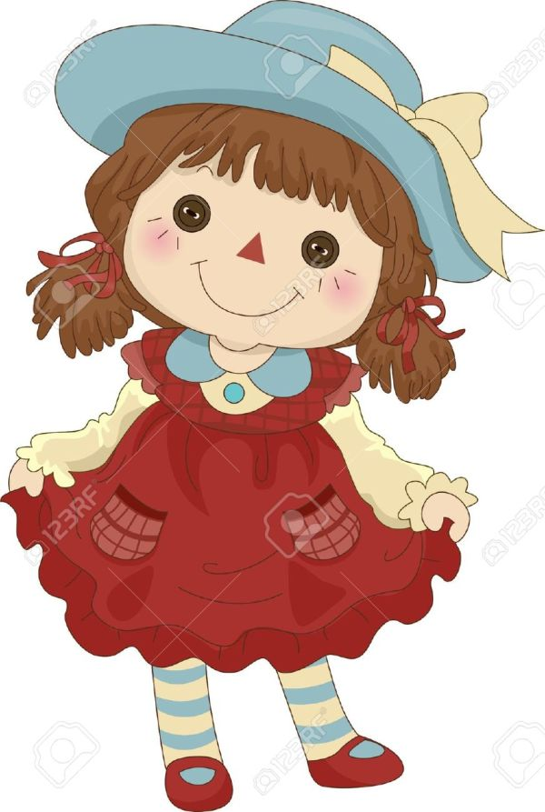 doll illustration of toy clipart