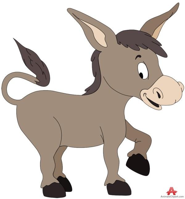 Donkey Cartoon Clip Art Free