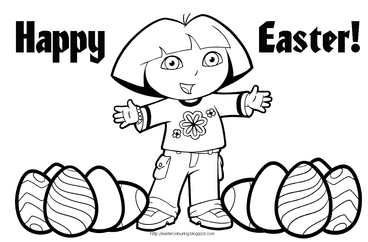 Dora Backpack Coloring Page Clipart Panda