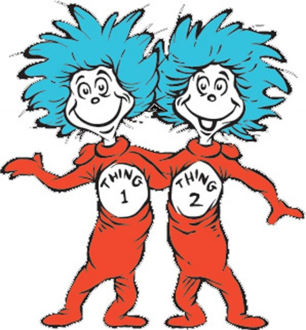 thing 1 and thing 2 coloring pages # 6