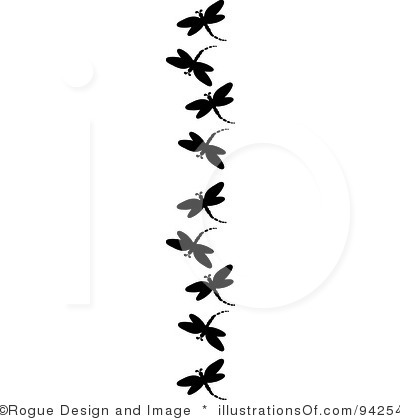 dragonfly silhouette clipart