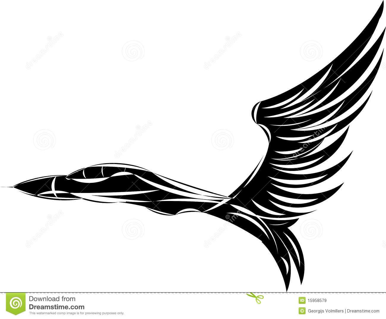 Eagles Wings Art Sketch Templates