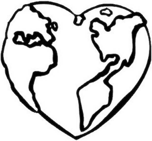 Free coloring pages of layers the earth