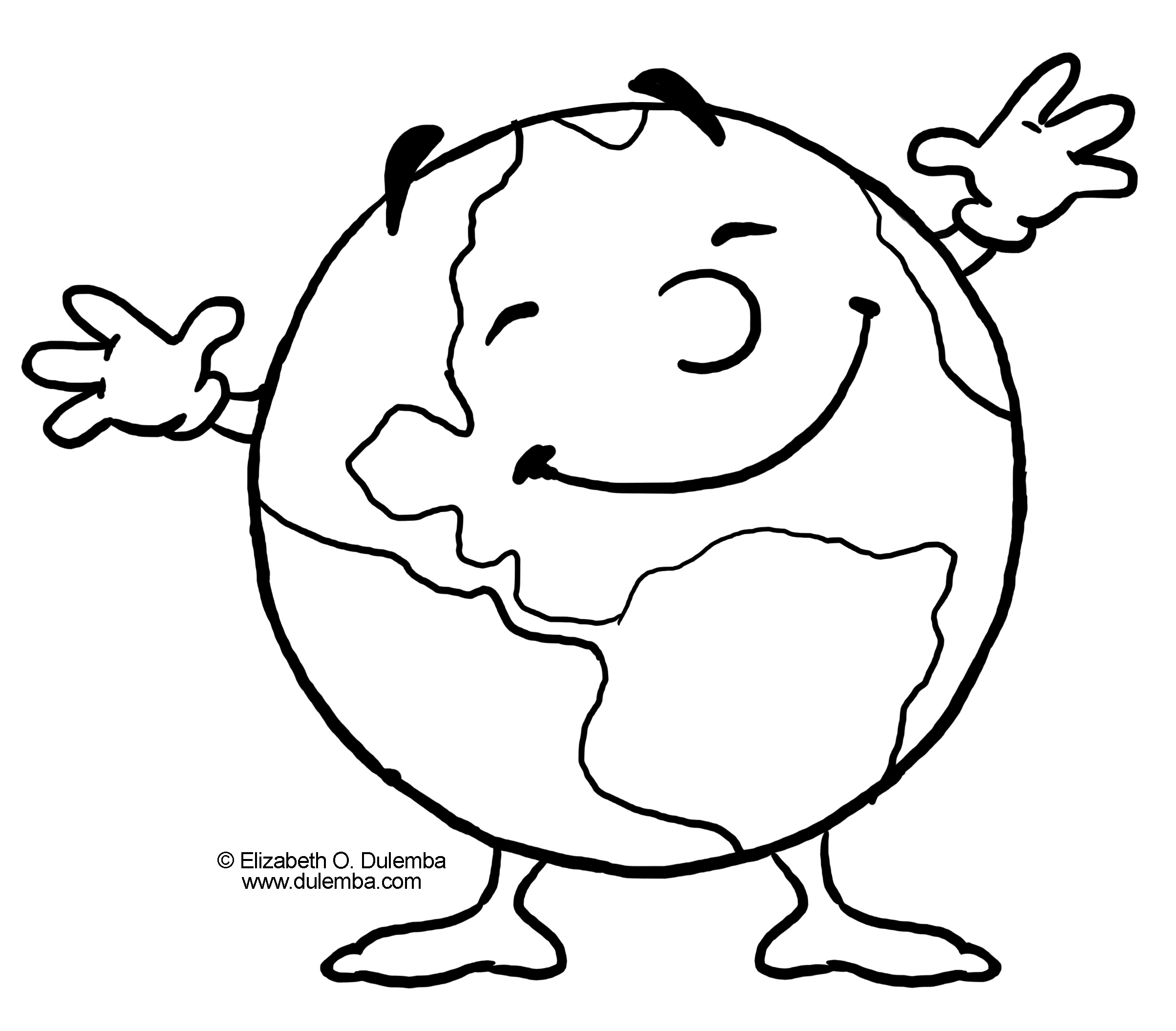 Earth Coloring Pages Printable Clipart Panda