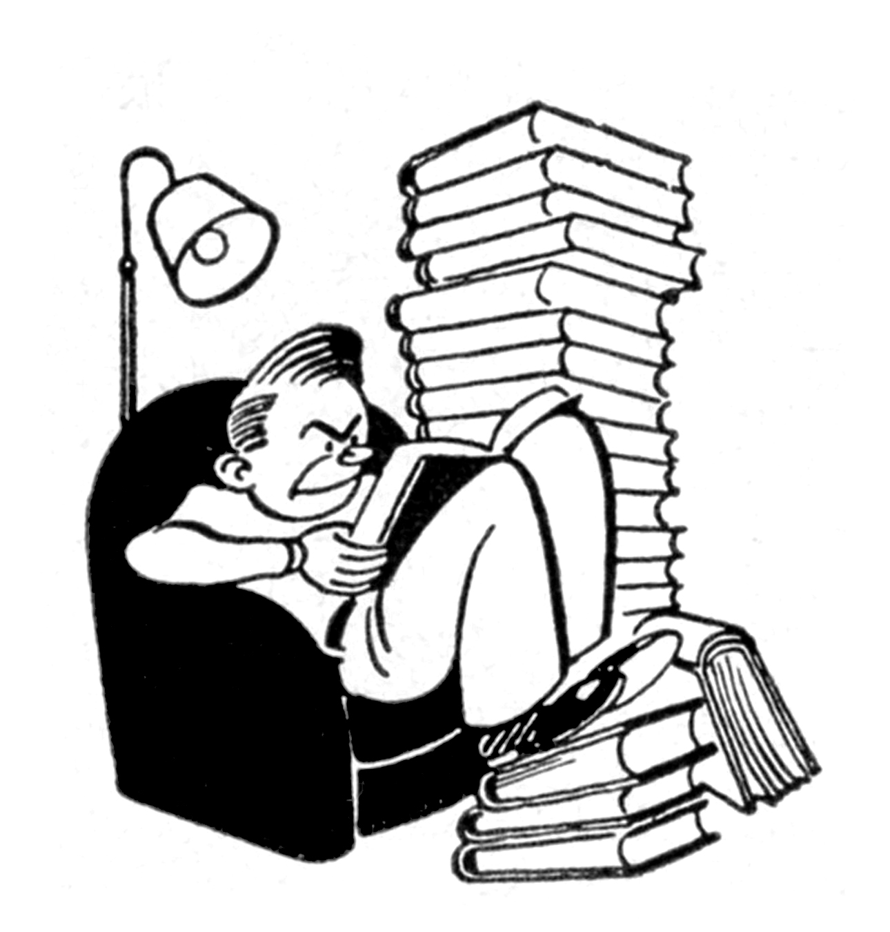 College Student Clipart Black And White