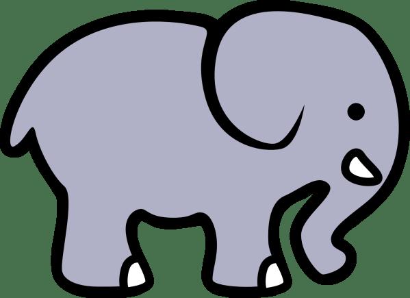 elephant clip art black and white