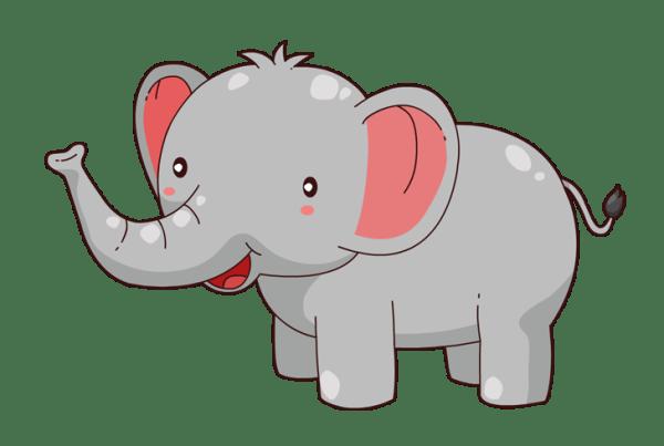 elephant clip art outline clipart