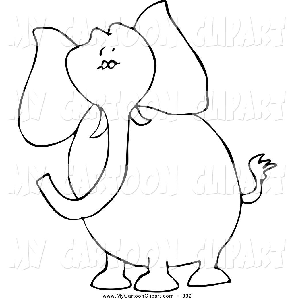 Elephant Clipart Outline Clipart Panda
