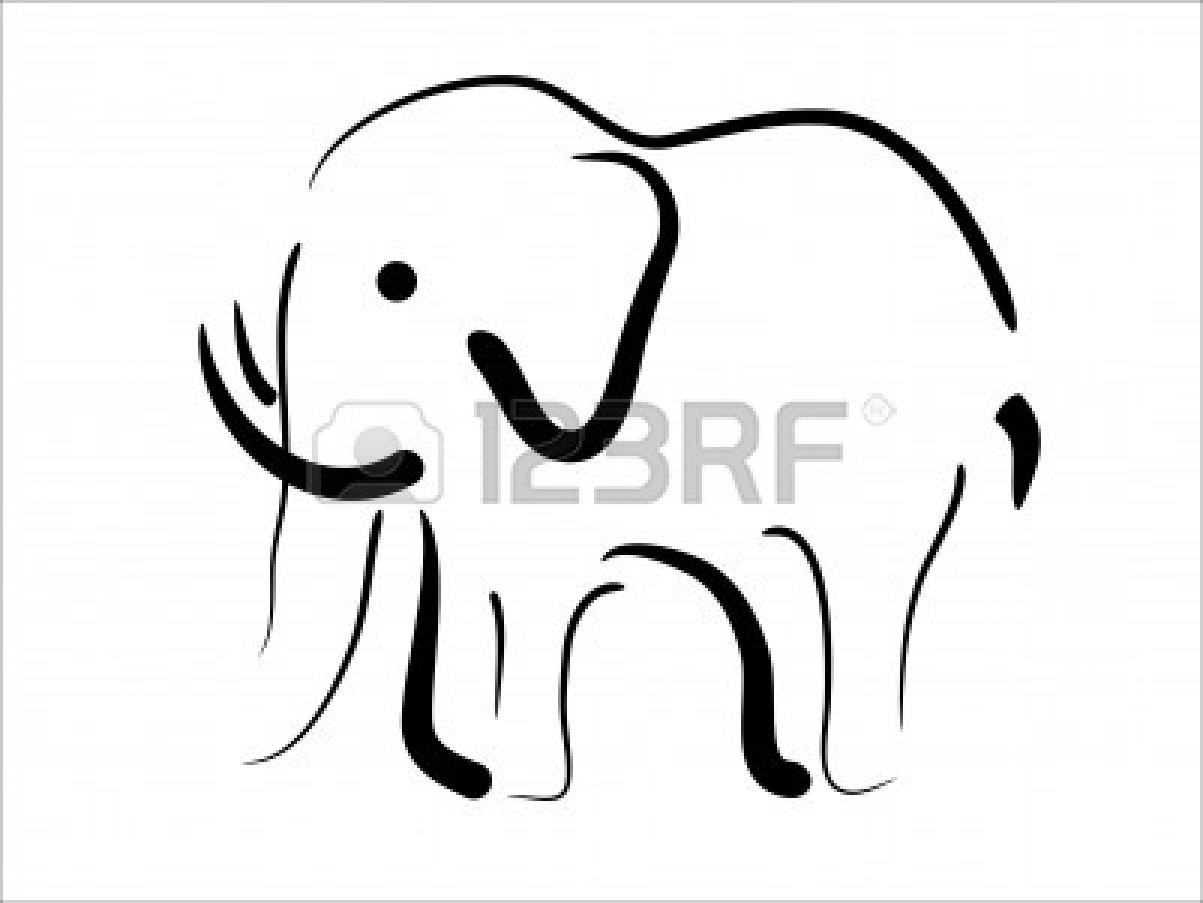Indian Elephant Drawing Outline Clipart Panda