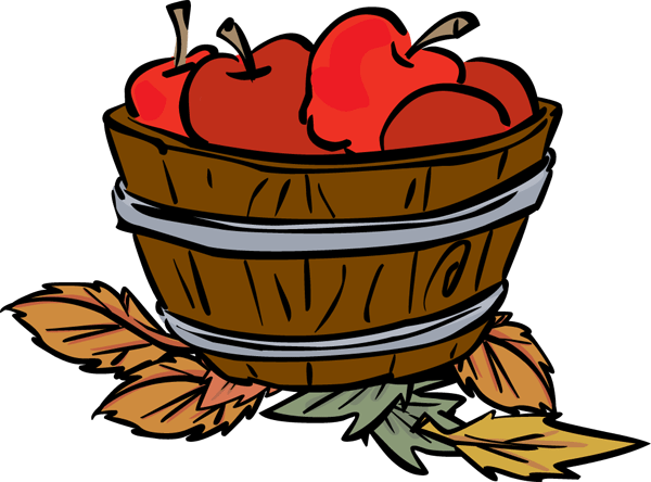 empty apple basket clipart