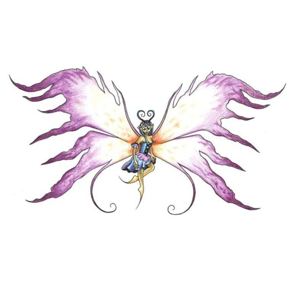 fairy wings template clipart