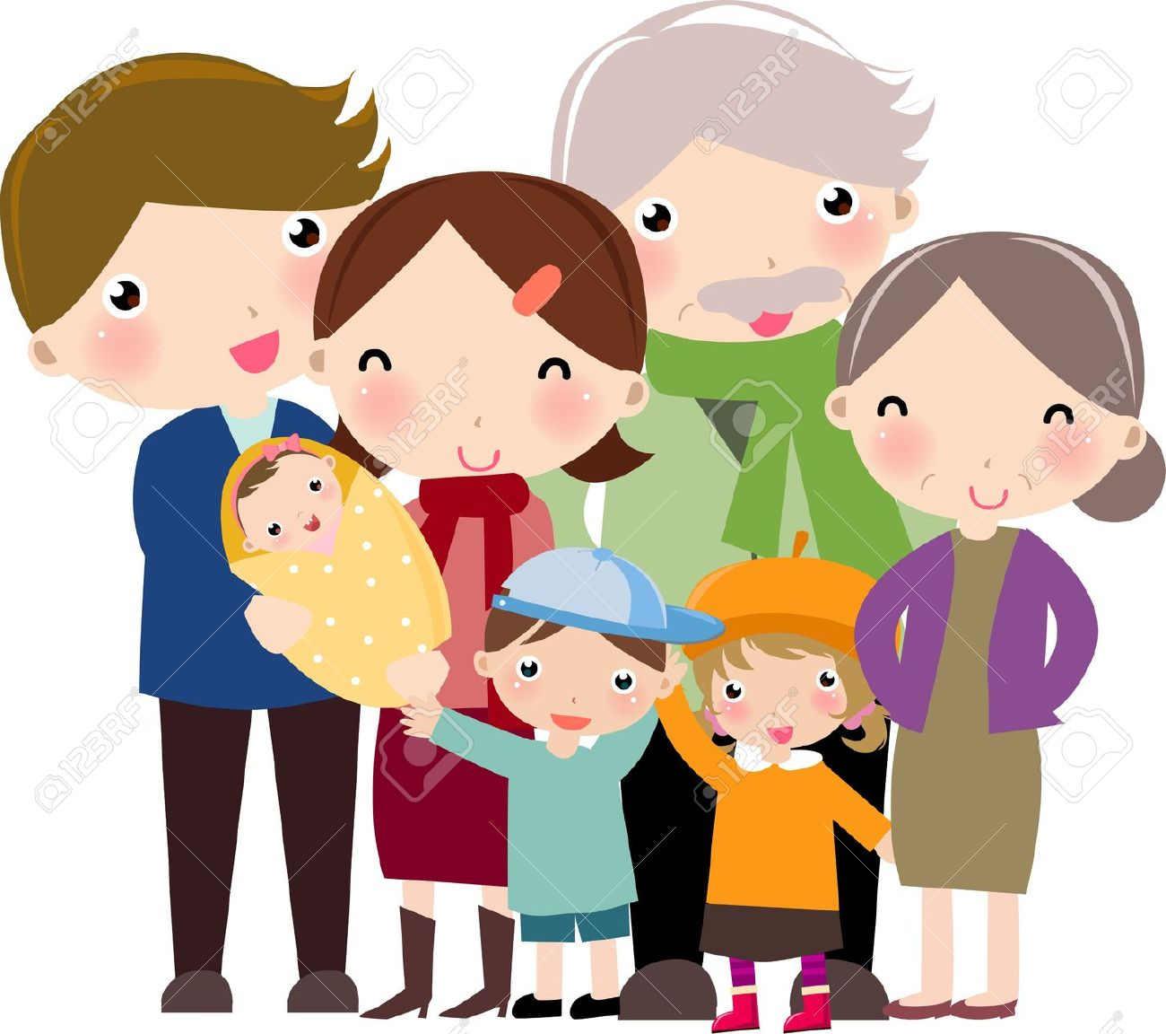 hight resolution of family clipart