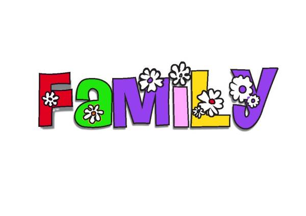My Family Words Clip Art
