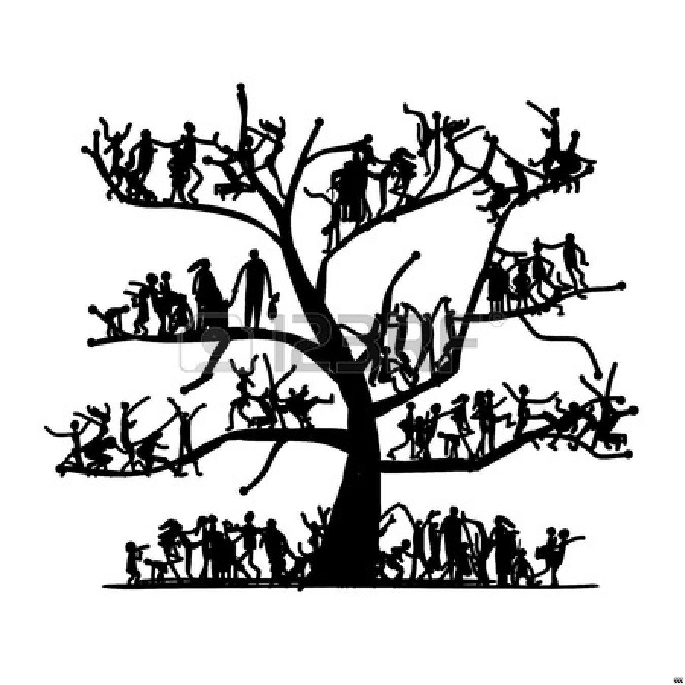 Family Tree Clip Art Black And White