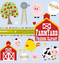 farm clipart [ 1500 x 1500 Pixel ]