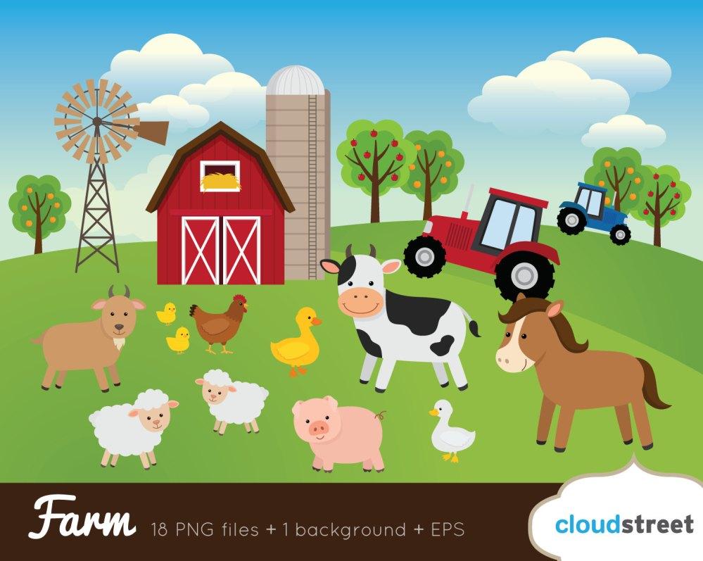 medium resolution of farm clipart