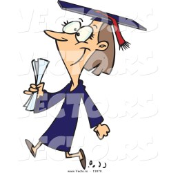 cartoon college graduate female happy walking clipart student students ron leishman vector clipartpanda royalty terms clipartmag graphic