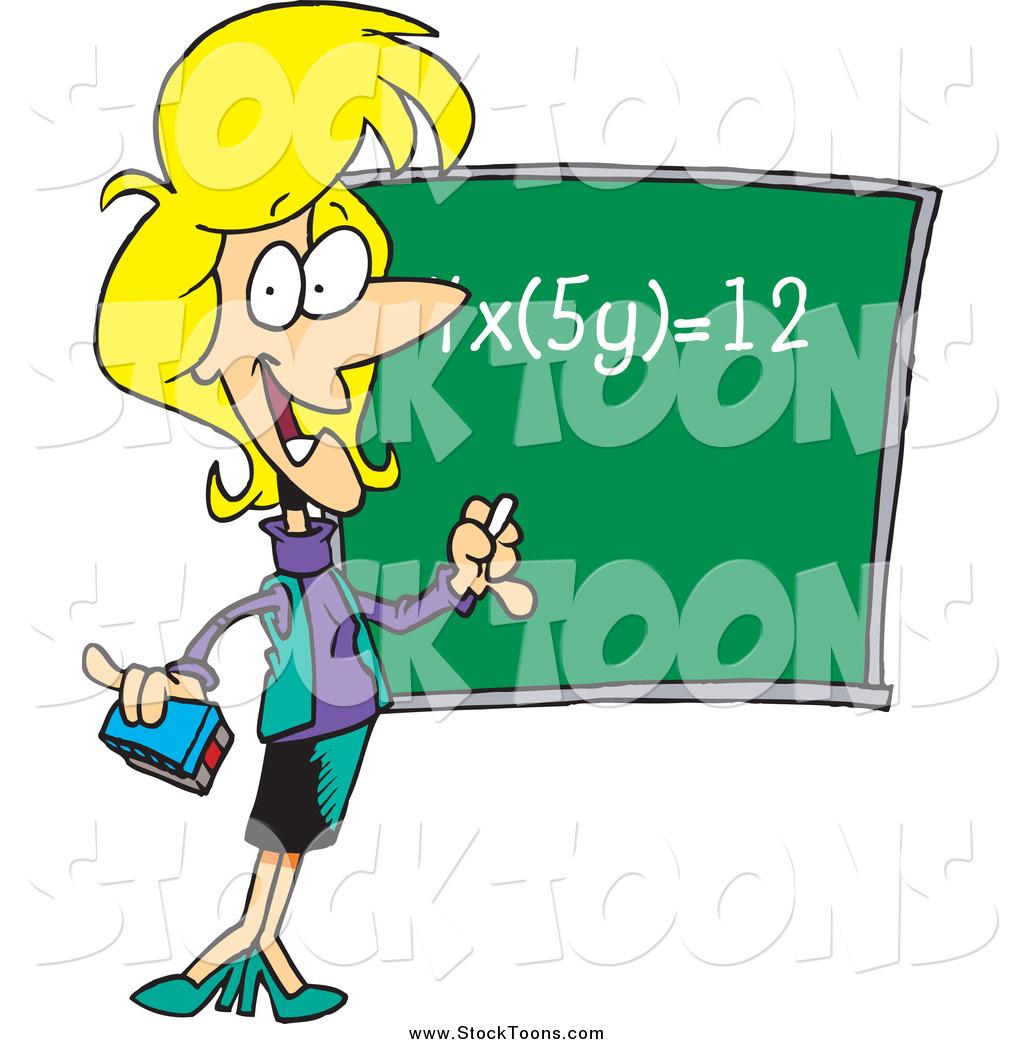 hight resolution of female math teacher clip art