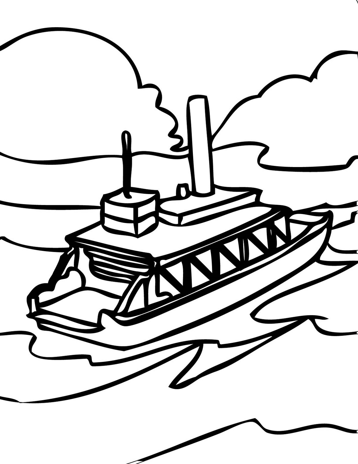 Clip Art Of A Ferry Boat Cliparts