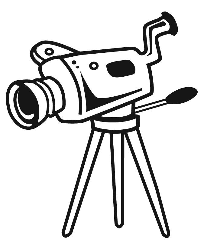 Movie Film Clip Art Coloring