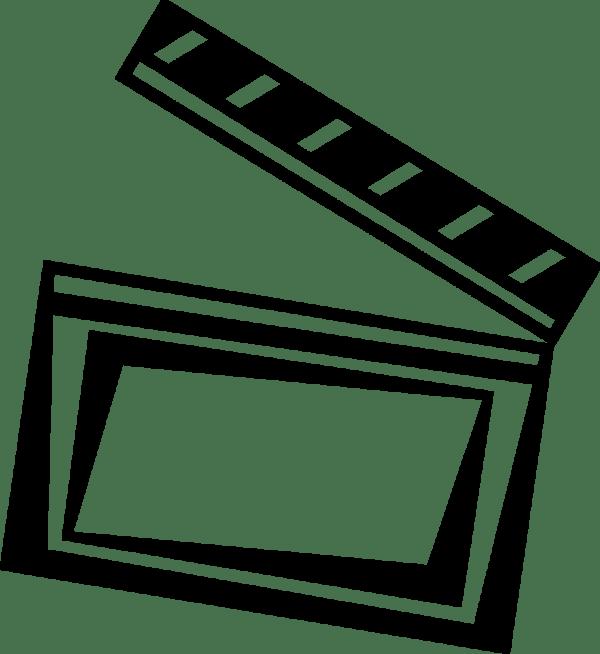Movie Clapper Clipart Panda - Free