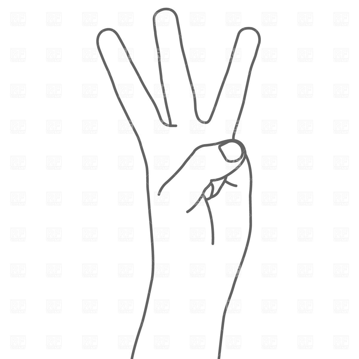 Finger Clip Art Free A Hand Pointing Upward