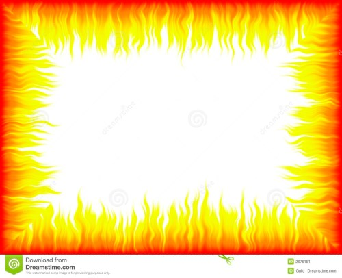 small resolution of fire border with white background