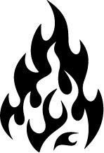 fire flames clipart decal classic panda clipartmag