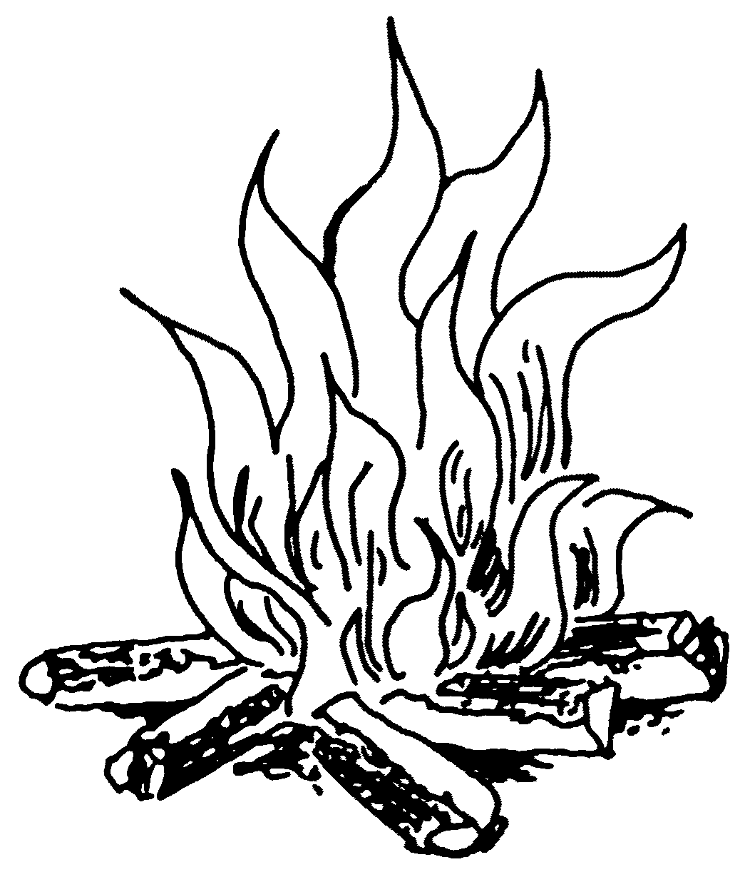 Fire Flames Black And White Clipart Panda