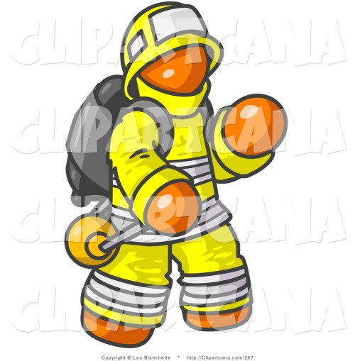small resolution of firefighter clipart