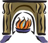 Drawing of a fireplace Stock   Clipart Panda - Free ...