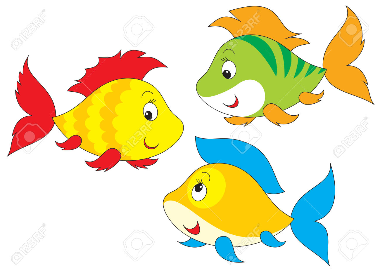 hight resolution of fish clipart