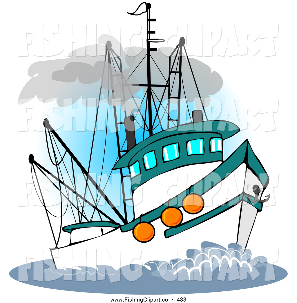 hight resolution of fishing boat clipart
