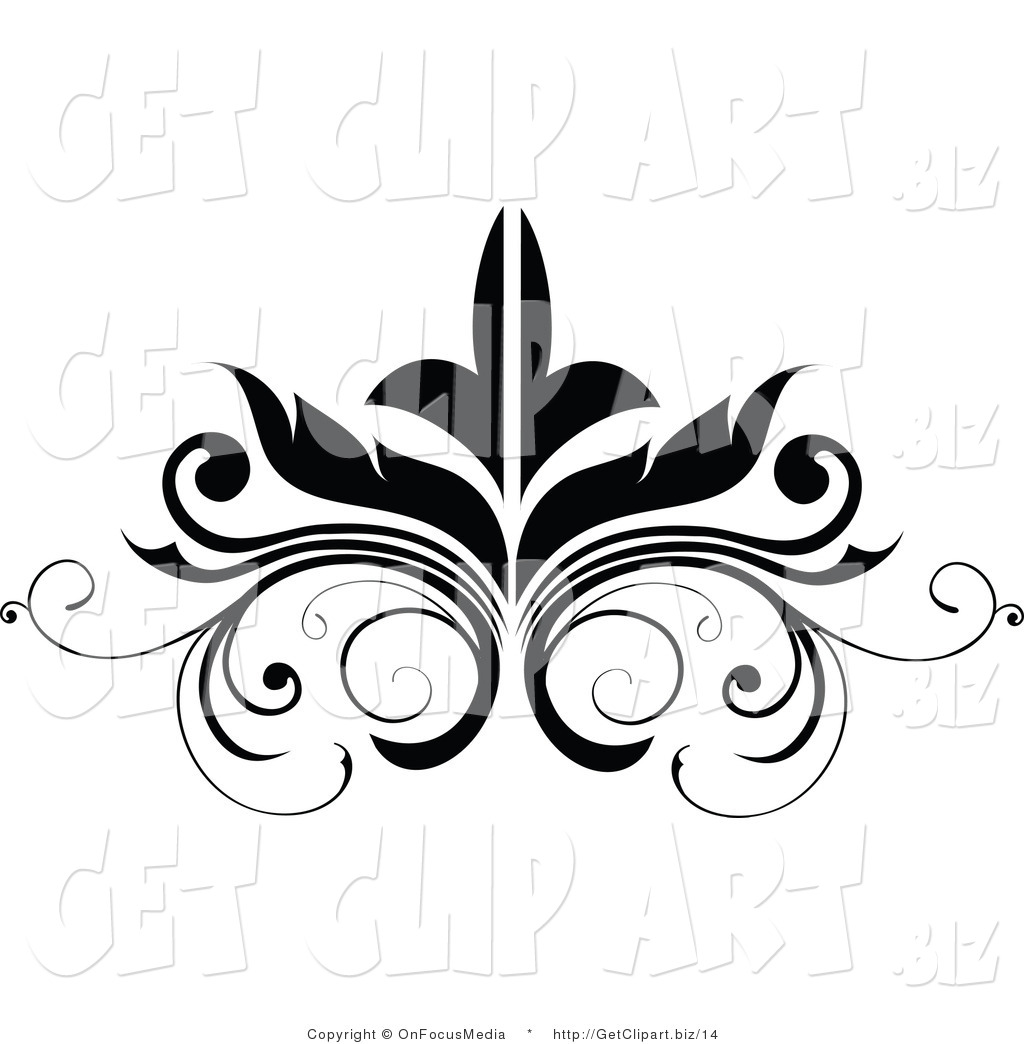 hight resolution of flourish clipart