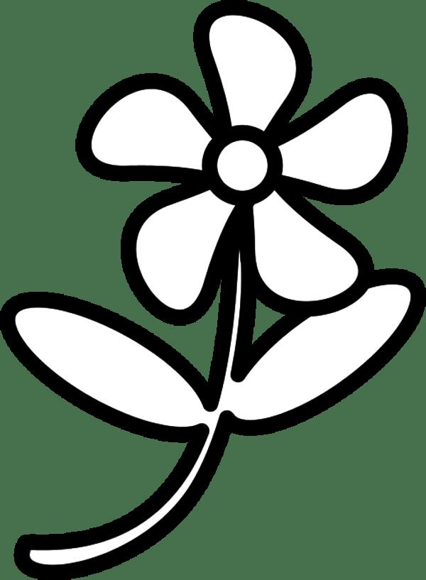 flower clip art outline