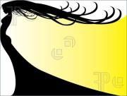 flowing hair silhouette clipart