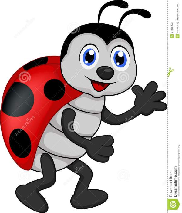 ladybug flying drawing clipart