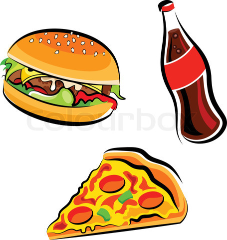 junk food snacks clipart