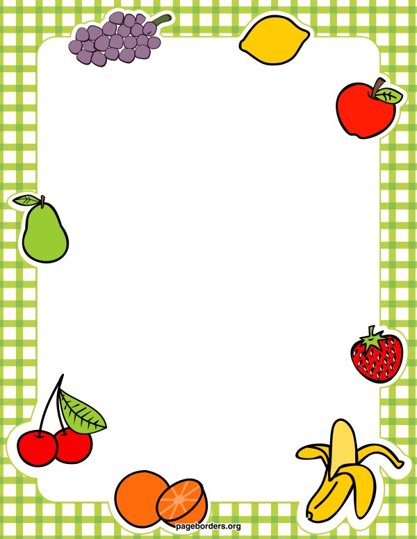 fruits and vegetables border clipart