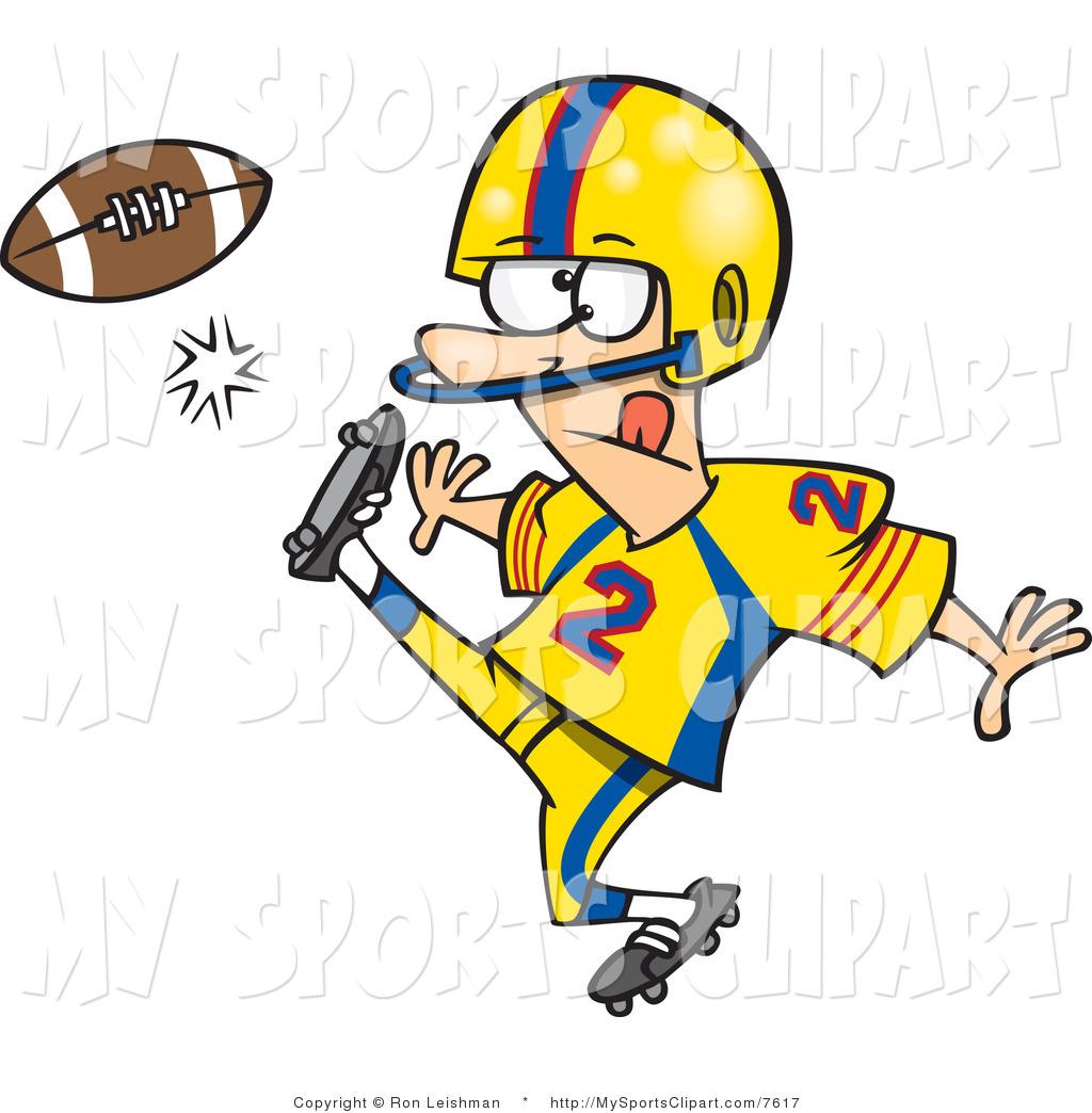 hight resolution of football player clip art
