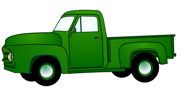 ford pickup truck clipart