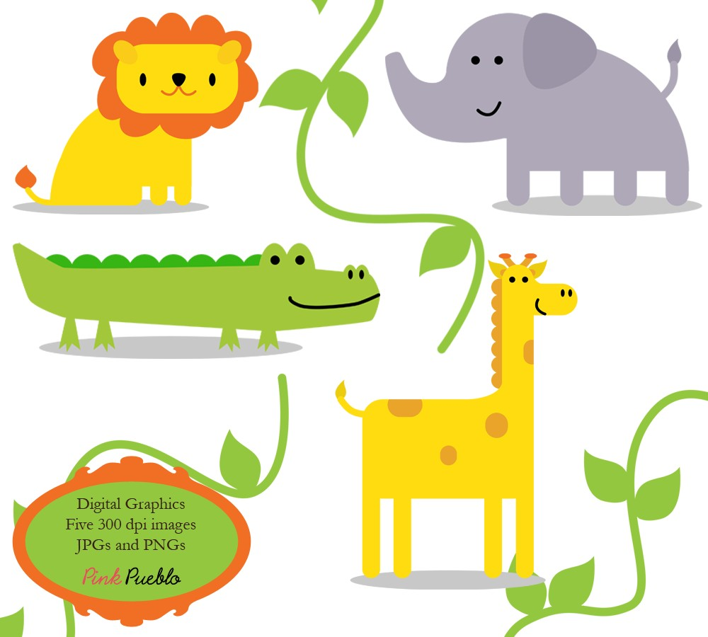 hight resolution of forest animals clipart